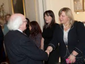 Meeting President Higgins - Susi Lodola Counselling